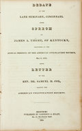 Books:Americana & American History, [Anti-Slavery]. Debate at the Lane Seminary, Cincinnati. Speechof James A. Thome, of Kentucky, Delivered at the Annual ...