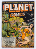 Golden Age (1938-1955):Science Fiction, Planet Comics #25 (Fiction House, 1943) Condition: Apparent FN....