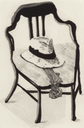 Prints:Contemporary, DAVID HOCKNEY (British, b. 1937). Hat on a Chair (fromThe Geldzahler Portfolio), 1998. Lithograph.23-5/8 x...