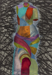 JIM DINE (American, b. 1935) Venus at Sunset, 2005 Cardboard intaglio and woodcut in colors with han