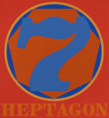 Prints:Contemporary, ROBERT INDIANA (American, b. 1928). Heptagon (from thePolygon Suite), 1975. Silkscreen in colors. 24 x21-7/8 i...