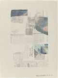 Prints, ROBERT RAUSCHENBERG (American, 1925-2008). Untitled Press, 1972. Lithograph in colors. 31-1/2 x 23 inches (80.0 x 58.4 c...