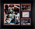 Football Collectibles:Others, Walter Payton Signed Index Card Display. ...