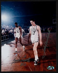 Basketball Collectibles:Photos, Bill Russell and John Havlicek Multi Signed Photograph....