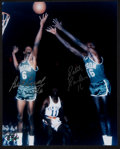 Basketball Collectibles:Photos, Bill Russell and Satch Sanders Multi Signed Photograph....