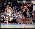 Basketball Collectibles:Photos, Sam Jones Signed Oversized Photograph - Chamberlain ThemeInscription....