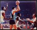 Basketball Collectibles:Photos, Bill Russell and K.C. Jones Multi Signed Oversized Photograph....