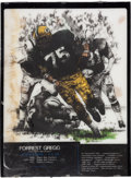 Football Collectibles:Others, 1990's Forrest Gregg Backlit Poster Display from the NFL Hall of Fame. ...