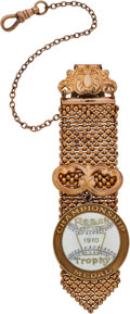 Baseball Collectibles:Others, 1910 Reach Trophy Championship Medal Watch Fob....