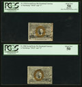 Fractional Currency:Second Issue, Fr. 1286 25¢ Second Issue PCGS About New 50. Fr. 1318 50¢ Second Issue PCGS Apparent About New 50.. ... (Total: 2 notes)