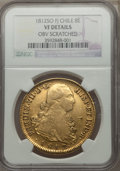 Chile, Chile: Ferdinand VII gold 8 Escudos 1812 So-FJ VF Details (ObverseScratched) NGC,...
