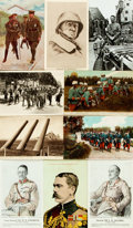 Miscellaneous:Postcards, [Postcards]. Group of Seventeen Postcards Depicting WWs I&II.Various publisher's and dates, ca. 1910s - 1940s. Most measuri...