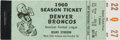 Football Collectibles:Tickets, 1960 Denver Broncos AFL Opening Season Full Ticket Booklet & Printing Press - Only Known!...