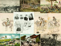 Miscellaneous:Postcards, [Postcards]. Group of Eighteen Postcards with a Military Theme.Various publishers and dates, ca. 1890s-1910s. Various s...