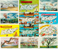 Miscellaneous:Postcards, [Postcards]. Group of Twenty-one State Postcards. States includeTennessee, Utah, Vermont and Virginia. Various publishers a...