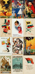 Miscellaneous:Postcards, [Postcards]. Group of Seventeen Postcards Depicting WWI Era Scenesand Propaganda. Various publisher's and dates, ca. 1910s....