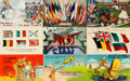 Miscellaneous:Postcards, [Postcards]. Group of Seventeen Mostly Humorous Postcards From WWsI&II. Various publisher's and dates, ca. 1910s - 1940s. M...