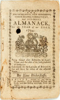 Books:Americana & American History, [Almanac]. Isaac Bickerstaffe. The Massachusetts, New Hampshire,Rhode Island, Connecticut, and Vermont Almanack for the...