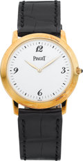 "Timepieces:Wristwatch, Piaget Ref. 9920 ""Mecanique"" 18k Gold Gent's Wristwatch. ..."