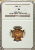 Proof Indian Cents, 1862 1C PR66 NGC....