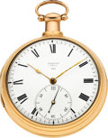 Timepieces:Pocket (pre 1900) , Dean, London, Large 18K Rose Gold Pair Cased Patent Lever Fusee,circa 1812. ...