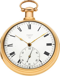 Dean, London, Large 18K Rose Gold Pair Cased Patent Lever Fusee, circa 1812
