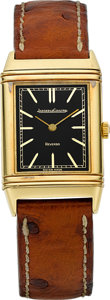 Timepieces:Wristwatch, Jaeger LeCoultre Ref. 6184.21 18k Yellow Gold Reverso. ...