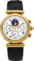 Timepieces:Wristwatch, Gerald Genta Ref. G 3174.7 Fine Gold Astronomic Chronograph WithPerpetual Calendar. ...