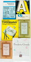 Books:Books about Books, [Books about Books]. Group of Six Books about Typography. Various publishers and dates. Publishers' bindings. Very good. . ... (Total: 6 Items)