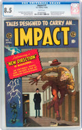 Golden Age (1938-1955):Horror, Impact #1 (EC, 1955) CGC VF+ 8.5 White pages....