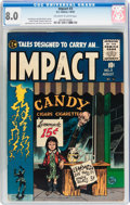 Golden Age (1938-1955):Horror, Impact #3 (EC, 1955) CGC VF 8.0 Off-white to white pages....