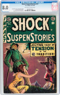 Golden Age (1938-1955):Horror, Shock SuspenStories #17 (EC, 1954) CGC VF 8.0 Off-white to whitepages....