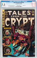 Golden Age (1938-1955):Horror, Tales From the Crypt #44 (EC, 1954) CGC VF- 7.5 Off-white to whitepages....