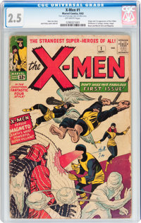 X-Men #1 (Marvel, 1963) CGC GD+ 2.5 Off-white pages