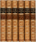 Books:World History, Robert Southey. History of the Peninsular War. London: JohnMurray, 1828. Complete in 6 volumes. Bound by Riviere in... (Total:6 Items)