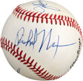 Autographs:Baseballs, Late 1980's President Richard Nixon Multi Signed Baseball....