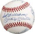 Autographs:Baseballs, Late 1980's 500 Home Run Club Signed Baseball....