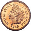 Proof Indian Cents, 1865 1C PR66 Red PCGS....
