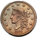 Proof Large Cents, 1838 1C PR64 Brown PCGS. N-11, Low R.6 as a Proof....