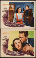 """Movie Posters:War, The Conspirators (Warner Brothers, 1944). Lobby Cards (2) (11"""" X14""""). War.. ... (Total: 2 Items)"""