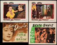 """The Corn Is Green & Other Lot (Warner Brothers, 1945). Trimmed Title Lobby Card (12.75"""" X 9.75"""") &..."""