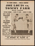"Movie Posters:Sports, Joe Louis vs. Tommy Farr Fight Film (Unknown, 1937). Heralds (5) (9"" X 12""). Sports.. ... (Total: 5 Items)"
