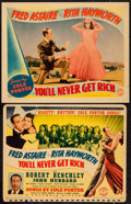 """Movie Posters:Musical, You'll Never Get Rich (Columbia, 1941). Trimmed Title Lobby Card (10.5"""" X 13.5"""") & Lobby Card (11"""" X 14""""). Musical.. ... (Total: 2 Items)"""