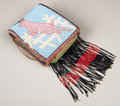 American Indian Art:Beadwork, A PLATEAU PICTORIAL BEADED HIDE BELT POUCH. . c. 1910. ...