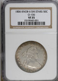 Early Half Dollars, 1806 50C Knobbed 6, Small Stars VF35 NGC....