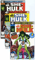 Modern Age (1980-Present):Superhero, Savage She-Hulk Group (Marvel, 1979-90) Condition: Average NM+....(Total: 43 Comic Books)