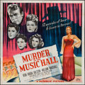 """Movie Posters:Mystery, Murder in the Music Hall (Republic, 1946). Six Sheet (79"""" X 80"""").Mystery.. ..."""