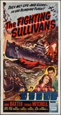 "The Sullivans (Realart, R-1951). Three Sheet (41"" X 78""). War. Re-released as The Fighting Sullivans"
