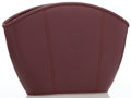 Luxury Accessories:Accessories, Cartier Burgundy Leather Clutch Bag. ...