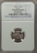 Early Half Dimes, 1800 H10C V-1, LM-1, R.3, -- Damaged -- NGC Details. Good. NGCCensus: (0/15). PCGS Population (0/2). Mintage: 40,000. ...